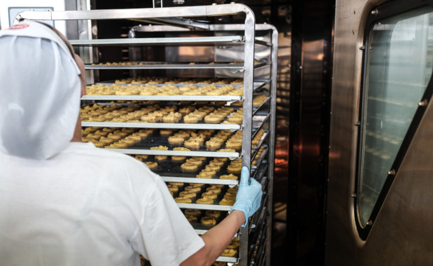 Bakery application for nylon wheels